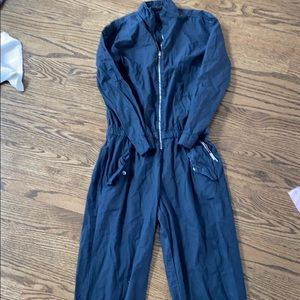 Zara size small black cotton jumpsuit